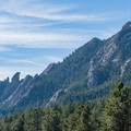 Close-up of rocky outcroppings in front of Bear Peak.- Shanahan Forks Loop