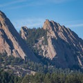Close-up of the Flat Irons above National Center for Atmospheric Research.- Shanahan Forks Loop