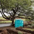Portable toilets at Lapakahi State Park.- Lapakahi State Historical Park