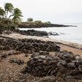 The walking path through Lapakahi State Park continues along the shore.- Lapakahi State Historical Park