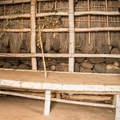 The inside of a model structure in Lapakahi State Park.- Lapakahi State Historical Park