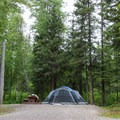 All sites are vehicle accessible.- Liard River Hot Springs Campground