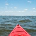 Wide views over Charleston Harbor.- Fort Sumter Sea Kayaking