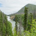 View from the drive-up overlook.- Smith River Falls