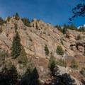 View of the south ridge of Bear Peak.- South Boulder Peak via Shadow Canyon