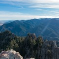 View south from the summit.- South Boulder Peak via Shadow Canyon