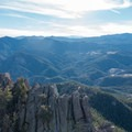 Endless sea of forested peaks.- South Boulder Peak via Shadow Canyon