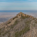 Bear Peak, a much sharper and more technical summit, but also more crowded.- South Boulder Peak via Shadow Canyon