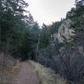 Back on the Shadow Canyon Trail.- South Boulder Peak via Shadow Canyon