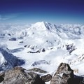 """Mount Foraker from """"The Diving Board"""" at 17,000-foot Camp.- Denali: West Butress"""