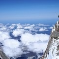 Looking down from the West Buttress.- Denali: West Butress