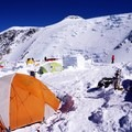 17,000-foot Camp with a luxurious igloo bathroom!- Denali: West Butress