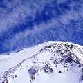 Looking up toward the Denali Summit from 17,000-foot Camp.- Denali: West Butress