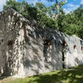 All that remains of the chapel are the tabby walls.- Chapel of Ease Ruins