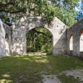 Inside the chapel, or what's left of it.- Chapel of Ease Ruins