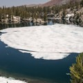 Frozen lakes in early July.- Duck Pass via Wood Lakes + Duck Pass Trail