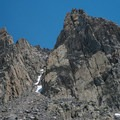Surrounding granite peaks.- Duck Pass via Wood Lakes + Duck Pass Trail