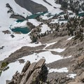 Barney Lake.- Duck Pass via Wood Lakes + Duck Pass Trail