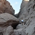 There is some moderate bouldering at the beginning of the hike.- Ladder Canyon Trail in Painted Canyon