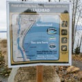Map at the trailhead for Pend d'Oreille Bay Trail. - Pend d'Oreille Bay Trail