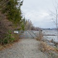 The current end of the trail and turn-around spot. - Pend d'Oreille Bay Trail