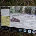 Signs educate visitors about the area.- Pend d'Oreille Bay Trail