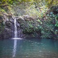 Haipua'ena Falls and pool requires a brief walk, making it a less-visited waterfall along the Road to Hana.- Haipua'ena Falls
