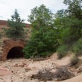 The culvert built by CCC in the 1930s.- Zion's Petroglyph Canyon