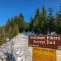 The trailhead.- Hollyburn Mountain Snowshoe