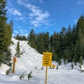 The marked trail ends after 2.5 kilometers (1.5 miles), with the summit another 500 meters farther.- Hollyburn Mountain Snowshoe