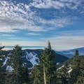Views in all directions, including north across the Cypress Ski Resort and Howe Sound.- Hollyburn Mountain Snowshoe