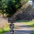 The trail to Grandma's Cove.- San Juan Island: South Beach
