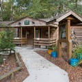 Nature center in the campground.- Myrtle Beach State Park Campground