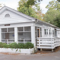 One of the cabins available for reservation.- Myrtle Beach State Park Campground
