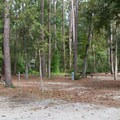 Some sites are rather small and close together.- Myrtle Beach State Park Campground