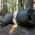 Remnants of the original shingle mill boiler.- Tarwater Trail