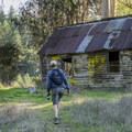 This old cabin is well-preserved.- Tarwater Trail