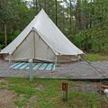 Unique tent camping areas are available.- Topsail Hill Preserve State Park