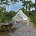 Campers can choose traditional or tent sites.- Topsail Hill Preserve State Park