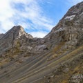 The rugged ridge near the upper reaches of Diamond Peak.- Diamond Peak