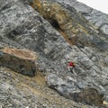 When the scree gets to be too much, you can always try the steep rock on the side of the chute.- Diamond Peak