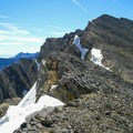 Rugged terrain on the summit ridge.- Mount Breitenbach