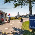The park entry and guard station.- Pemaquid Lighthouse