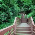 Stairs leading to the cave. - Indian Cave State Park