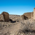 The trail leads through the ruins.- Hungo Pavi