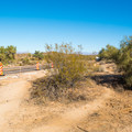 You will know you're on the right trail when you have to walk right about 30 feet from the parking lot, parallel to the road, before passing a small post to start the hike.- Wild Horse Trail