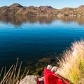 Although steep in some areas, you can walk a kayak down pretty much anywhere on the recreational side of the lake.- Saguaro Lake