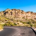Additional parking all along the road leading back toward North Bush Highway.- Saguaro Lake