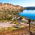 Staircases make your trip from the extended parking areas back to your boat quick and easy.- Saguaro Lake