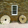 Mill stones.- Cooper Gristmill to Kay's Cottage via Patriot's Path